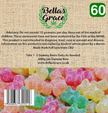Bellas Grace Gummie Bears 60