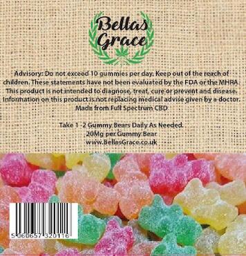 CBD Gummy Bears - An Easy way to take CBD | Bella's Grace
