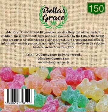 Bella's Grace Gummie Bears x 150