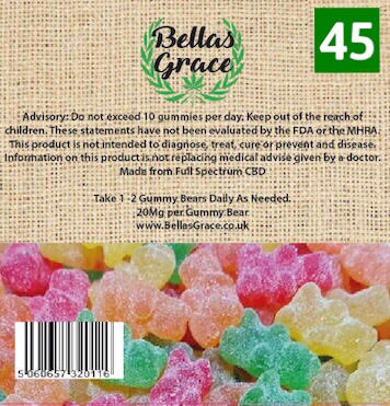 Bella's Grace Gummie Bears x 45