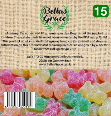 Bella's Grace Gummie Bears x 15