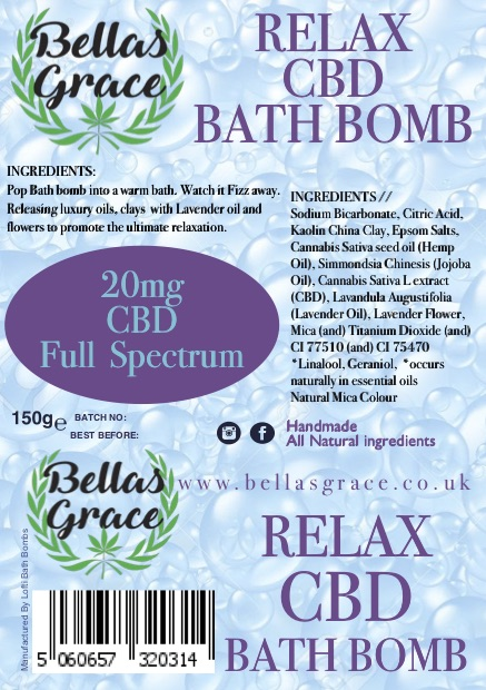 Bellas Grace Relax Bath bomb