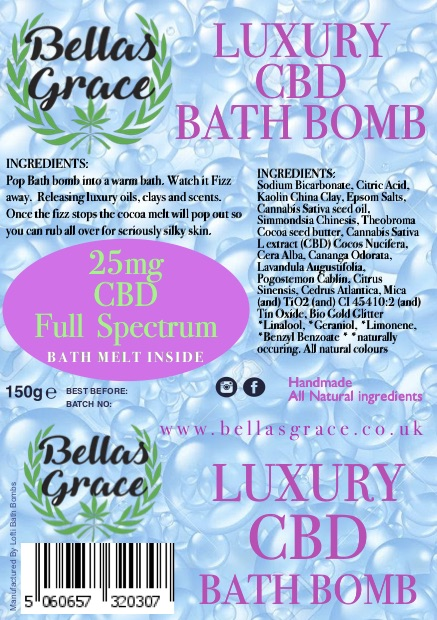 bellas grace luxury Bath Bomb