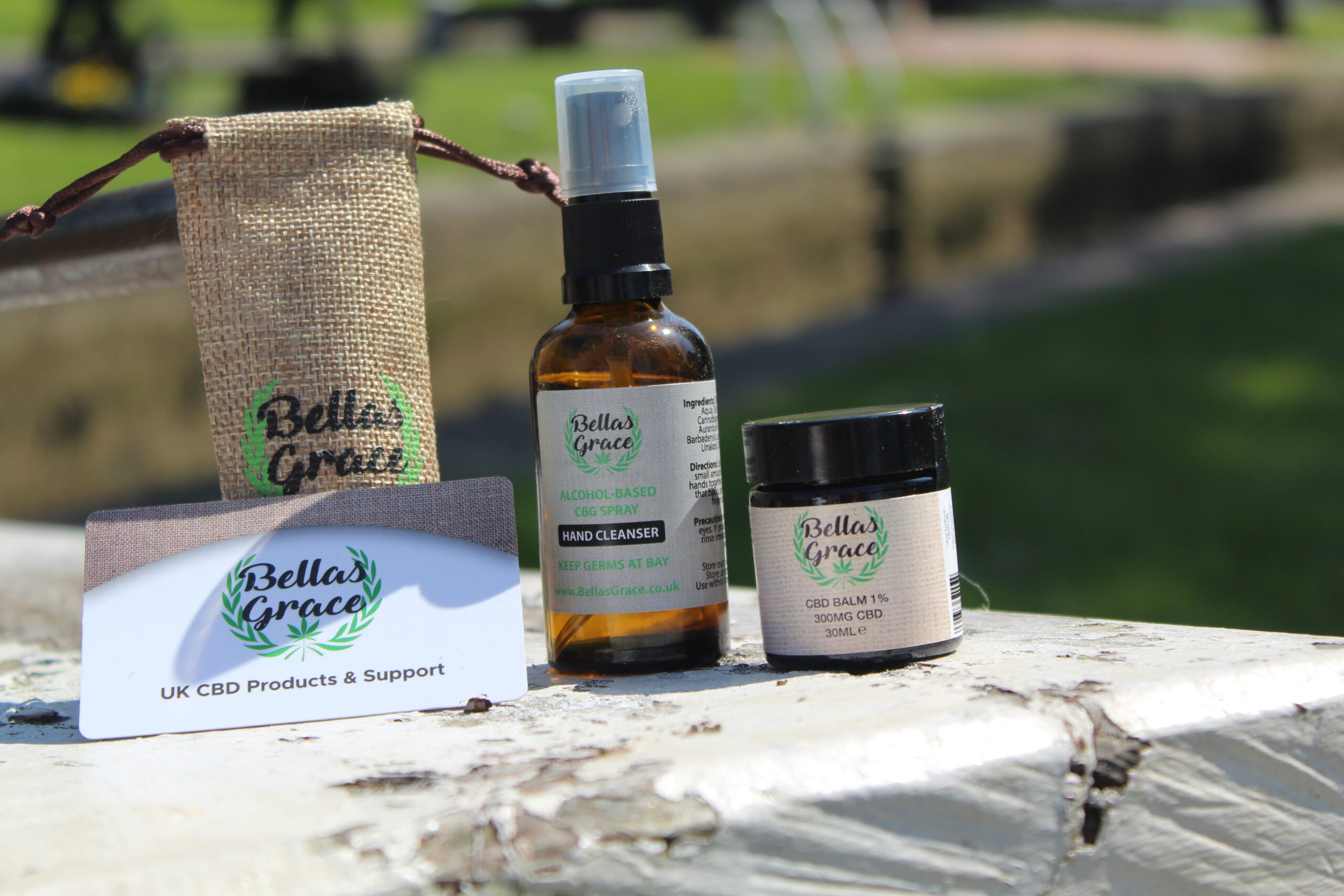 Bellas Grace CBD Hand Cleanser & Balm